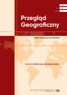 Przestrzeń cyfrowa i internet jako przedmiot zainteresowań w badaniach geograficznych = Digital space and the Internet as the subject of interest of geographical research
