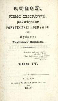 Rubon : pismo poświęcone pożytecznej rozrywce 1843 T.4
