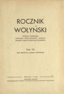 Rocznik Wołyński : wydawany staraniem Wołyńskiego Zarządu Okręgowego Związku Polskiego Nauczycielstwa Szkół Powszechnych