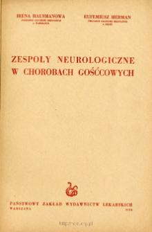 Zespoły neurologiczne w chorobach gośćcowych