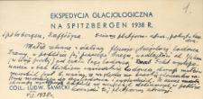 Etykiety do próbek geologicznych ze Spitsbergenu