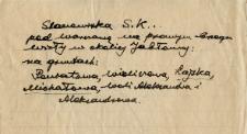 Notatka : stanowiska wydmowe Stefana Krukowskiego