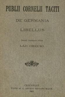 Publii Cornelli Taciti De Germania libellus