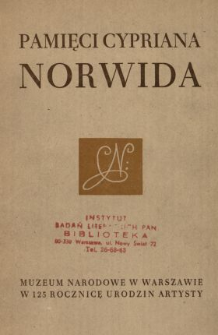 Pamięci Cypriana Norwida.