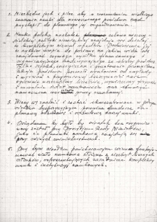 Notatki dotyczące postulatów organizacji nauki