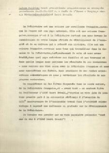 Tekst przemówienia przygotowanego na uroczyste posiedzenie 25. 06. 1957.