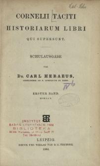Cornelii Taciti Historiarum libri qui supersunt : Schulausgabe. Bd. 1, Buch 1 und 2
