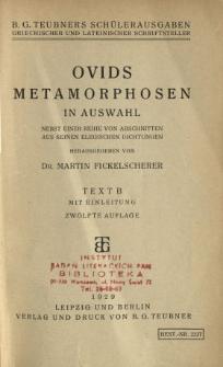 Ovids Metamorphosen in Auswahl : nebst einer Reihe von Abschnitten aus seinen elegischen Dichtungen : Kommentar