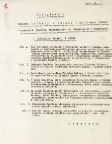 Zarządzenie Ministra Kultury i Sztuki z dnia 5. marca 1945 roku o powołaniu Komitetu Rzeczoznawców do Rewindykacji i Odszkodowań w Dziedzinie Kultury i Sztuki