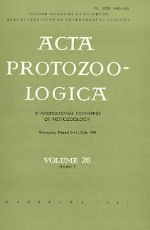 Acta Protozoologica, Vol. 20, Nr 2