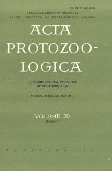 Acta Protozoologica, Vol. 20, Nr 3