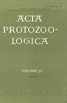 Acta Protozoologica, Vol. 21, Nr 3-4