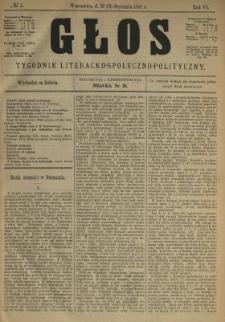 Głos : tygodnik literacko-społeczno-polityczny 1891 N.5