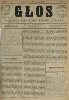 Głos : tygodnik literacko-społeczno-polityczny 1891 N.17