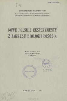 Nowe polskie eksperymenty z zakresu biologji łososia