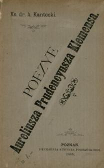 Poezye Aur. Prudencyusza Klemensa