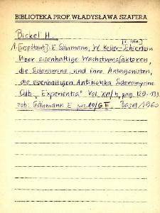 "Kartoteka ""Biblioteka Prof. Władysława Szafera"" : Bic-Bors"