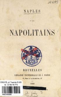 Naples et les Napolitains.