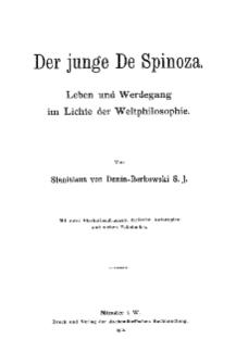 Der junge De Spinoza : Leben und Werdegang im Lichte der Weltphilosophie