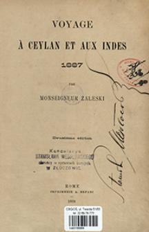 Voyage à Ceylan et aux Indes 1887