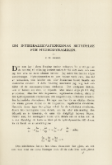 Om Integralekvationernas Betydelse för Hydrodynamiken