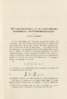 Om konvergensen af de Poincaré'ska o-serierna i hufvudcirkelfallet