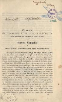 Klucz do oznaczania zwierząt krajowych Ssawce. Mammalia. 2 ; Inseetivora. Owadożerne albo Owadowce