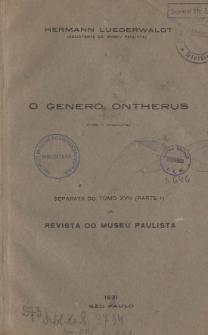 O genero Ontherus (Coleop.) (Lamellic-Coprid.-Pinot.): Com uma chave, para a determinação dos pinotides americanos