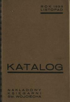 Katalog dzieł nakładowych Księgarni św. Wojciecha : rok 1933 listopad