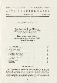 Zum Haarwechsel der Feldmaus, Microtus arvalis (Pallas, 1779) und weiterer Muroidea; Linka polnika zwyczajnego, Microtus arvalis (Pallas, 1779) i innych Muroidea