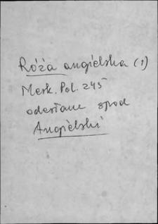 Kartoteka Słownika języka polskiego XVII i 1. połowy XVIII wieku; Róża - Ruchomosć