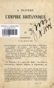 """A travers l'Empire Britannique (1883-1884) : suivi de l'incendie du paquebot la """"France"""" le 20 décembre 1886. T. 2"""