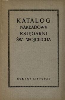 Katalog dzieł nakładowych Księgarni św. Wojciecha : rok 1928 listopad.