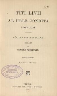 Titi Livii Ab urbe condita liber XXII