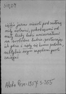 Kartoteka Słownika języka polskiego XVII i 1. połowy XVIII wieku; Siedy - Sirotki