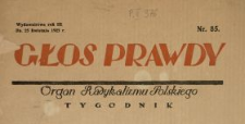 Głos Prawdy 1925 N.85