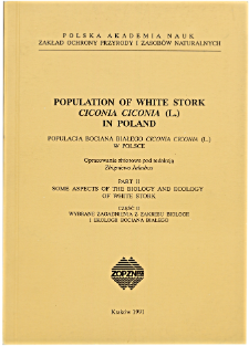 The breeding biology of White Stork Ciconia ciconia (L.) in the selected area of Southern Poland