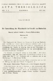 Bisoniana III. Die Entwicklung der Wisentzucht im Urwald von Białowieża; Bisoniana III. Rozwój hodowli żubrów w Puszczy Białowieskiej