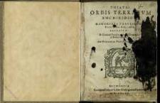 Theatri orbis terrarum enchiridion
