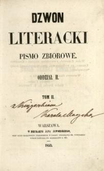 Dzwon Literacki : pismo zbiorowe 1853 T.2