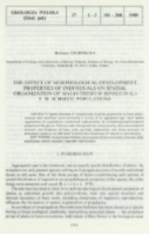 The effect of morphological-development properties of individuals on spatial organization of Maianthemum bifolium (L.) F. W. Schmidt populations