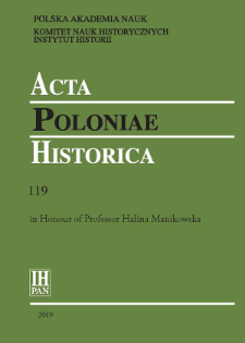 Acta Poloniae Historica T. 119 (2019), Reviews