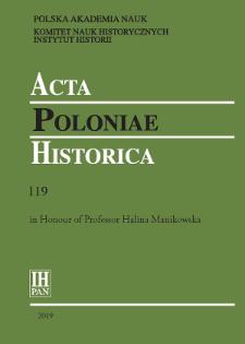Acta Poloniae Historica T. 119 (2019), Short notes