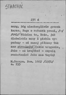 Kartoteka Słownika języka polskiego XVII i 1. połowy XVIII wieku; Strachać - Strogowanie