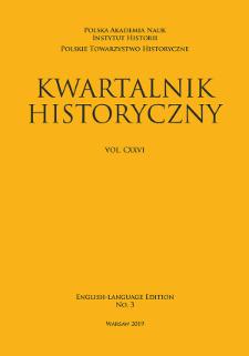 Kwartalnik Historyczny, Vol. 126 (2019) English-Language Edition No. 3, Reviews