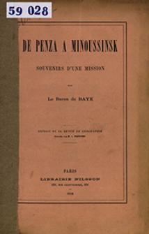 De Penza à Minoussinsk : souvenirs dʹune mission