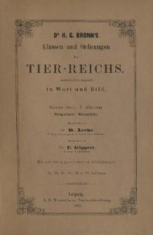 Die Klassen und Ordnungen des Thier-Reichs, wissenschaftlich dargestellt in Wort und Bild : 6 Band, 5 Abtheilung : Säugethiere: Mammalia