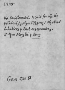 Kartoteka Słownika języka polskiego XVII i 1. połowy XVIII wieku; Tan - Tczy