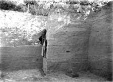 Stanowisko Horodok I : profil ściany wykopu