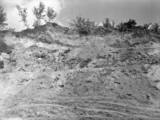 Bochotnica koło Nałęczowa, powiat Puławy : widok na odkrywkę